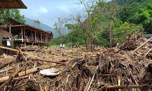 Huyện Mường Lát, Thanh Hóa là địa bàn bị thiệt hại nặng nề nhất của đợt mưa lũ. Ảnh: Lê Hoàng.