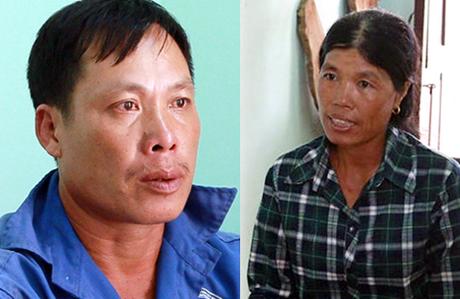 Thu và vợ lúc bị bắt. Ảnh: Quang Hưng.