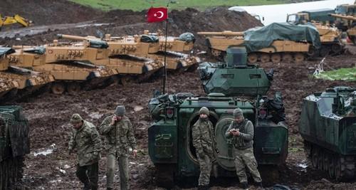 Lực lượng Thổ Nhĩ Kỳ triển khai tới Manbij hồi đầu năm nay. Ảnh: Sputnik.
