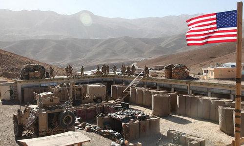 Lực lượng Mỹ triển khai tại căn cứ Al-Tanf đầu năm 2018. Ảnh: US Army.