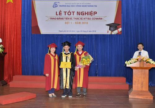 Lễ tốt nghiệp trao bằng tiến sĩ, thạc sĩ, cửa nhân tại Trường Đại học Công nghệ Thông tin.