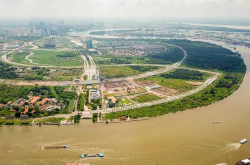 Một góc khu đô thị mới Thủ Thiêm. Ảnh: Quỳnh Trần.