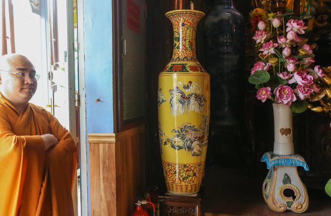 Ngôi chùa ở Sài Gòn có nhiều bình gốm nhất Việt Nam