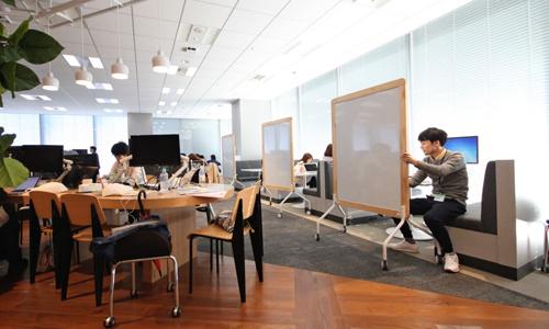 Văn phòng củaRecruit Holdings, công ty về lĩnh vực nhân sự tại Nhật Bản. Ảnh: Nikkei.