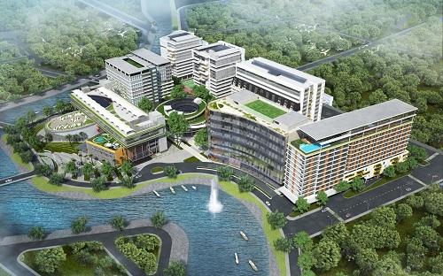 Khuôn viên Đại học Văn Lang.
