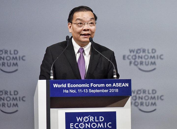 Bộ trưởng Chu Ngọc Anh phát biểu tại diễn đàn sáng 11/9. Ảnh: Giang Huy.