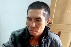 Nguyễn Văn Hùng tại cơ quan công an. Ảnh: Nguyễn Hằng.