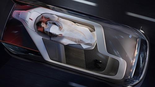 Thiết lập cabin như phòng ngủ trên Volvo 360C. Ảnh: Volvo.