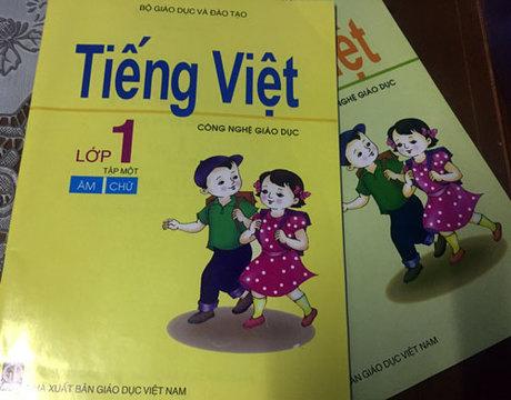 Sách Tiếng Việt Công nghệ Giáo dục lớp 1. Ảnh: Lê Nam.
