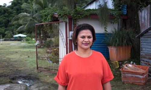 Leilani Reklai - chủ tịch hiệp hội du lịch Palau. Ảnh: Guardian.