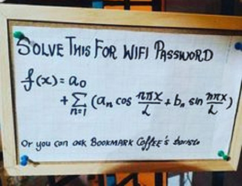 Pass wifi chỉ dành cho những người chuyên Toán.