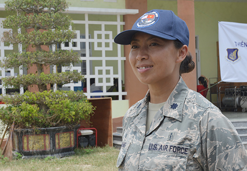Thiếu táPaula lần đầu tiên đến Việt Nam.Ảnh: Đắc Thành.