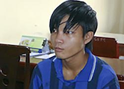 Nguyễn Văn Phước Bình bị bắt giữ. Ảnh: Công an cung cấp