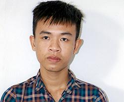 Trương Văn Hoà tại cơ quan điều tra. Ảnh: Công an cung cấp