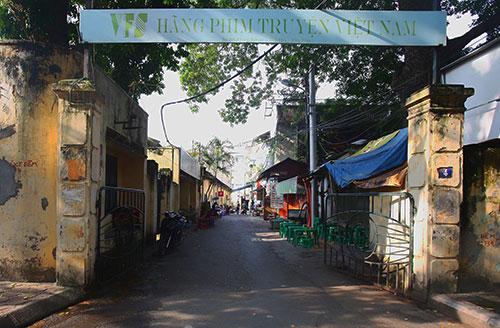 Trụ sở Hãng phim truyện Việt Nam trên phố Thuỵ Khuê (Hà Nội). Ảnh: Ngọc Thành.