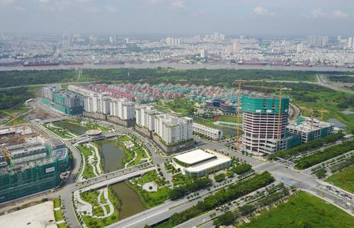 Khu đô thị Thủ Thiêm sau 22 năm quy hoạch. Ảnh: Quỳnh Trần.