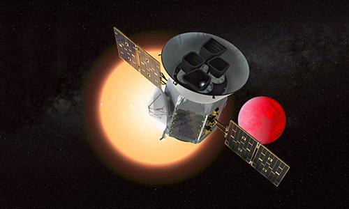 Vệ tinh TESS tìm thấy ngoại hành tinh mới đầu tiên. Ảnh: Space.