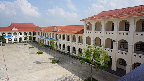 Một góc Trường THPT Kim Sơn B, nơi Chủ tịch nước Trần Đại Quang từng theo học. Ảnh: Lê Hoàng.
