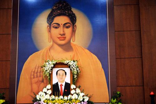 Giáo hội Phật giáo TP HCM tưởng niệm Chủ tịch nước Trần Đại Quang