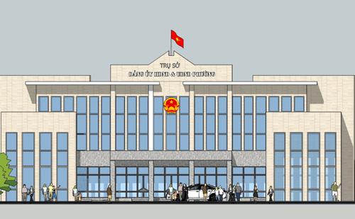 Một phương án kiến trúc trụ sở phường được đưa ra lấy ý kiến. Nguồn: HRAP.