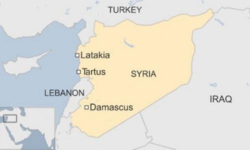 Vị trí tỉnh Latakia. Đồ họa: BBC.