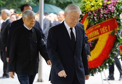 1.500 đoàn trong nước, quốc tế viếng Chủ tịch nước Trần Đại Quang