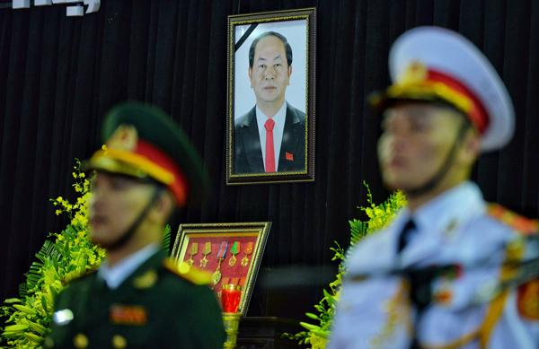 Trực tiếp lễ tang Chủ tịch nước Trần Đại Quang