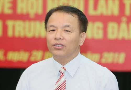 Ông Lê Quang Vĩnh, Phó chánh Văn phòng Trung ương Đảng trả lời báo chí sáng 28/9. Ảnh: V.V.T