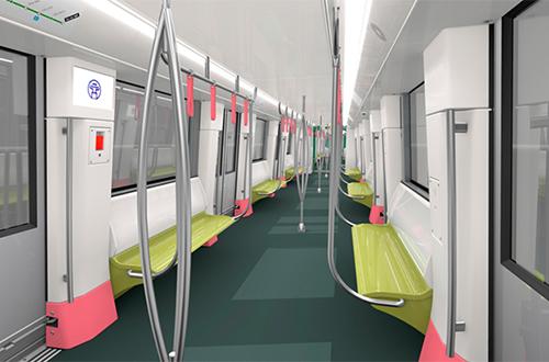 Mẫu thiết kế nội thất của đoàn tàu.