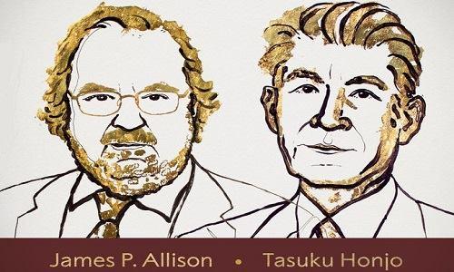 Hai nhà khoa học có công trình được giải Nobel y học 2018. Ảnh: Nobel Prize.