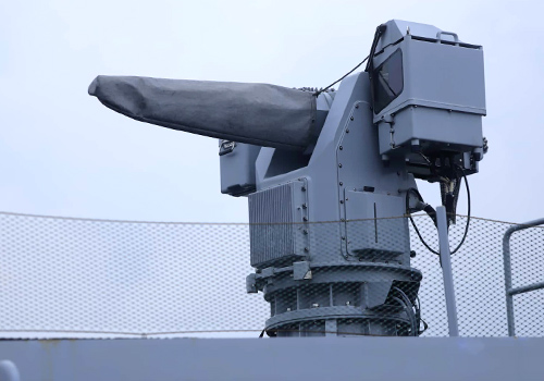 Hệ thống súng MLG27 chủ lực trên tàu. Ảnh: Nguyễn Đông.