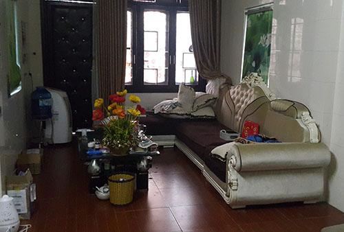 Căn phòng rộng 25 m2 ở tầng hai nơi Sơn cố thủ hơn 14 giờ.