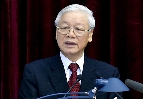 Tổng bí thư Nguyễn Phú Trọng phát biểu khai mạc Hội nghị Trung ương 8, khóa XII, sáng