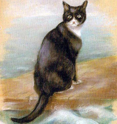 Chân dung mèo Oscar được lưu giữ trong bảo tàng. Ảnh: Wikipedia.