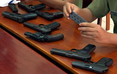 Số súng bị trộm từ công an huyện Krông Bông.