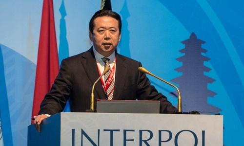 Chủ tịch Interpol Mạnh Hoành Vĩ. Ảnh: Xinhua.