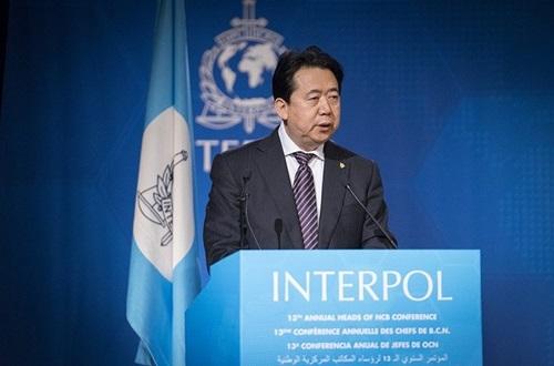 Chủ tịch Interpol Mạnh Hoành Vĩ. Ảnh: AP.