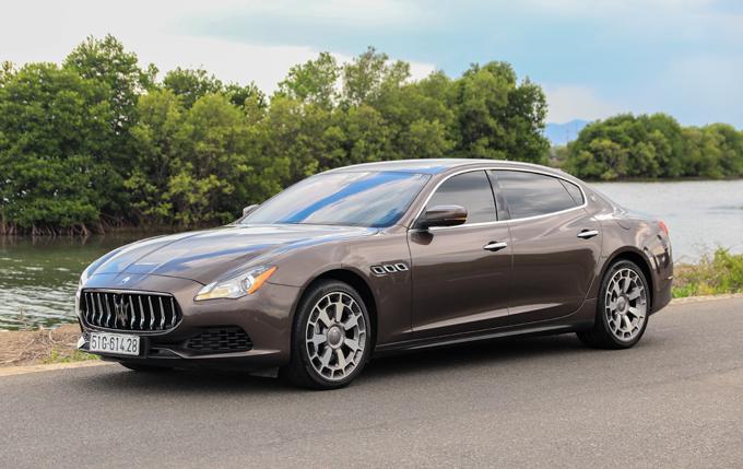 Maserati Quattroporte trên đường ở Vũng Tàu. Ảnh: Đức Huy.