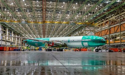 Boeing đã lắp ráp gần như hoàn thiện máy bay thử nghiệm 777-9X. Ảnh: CNN.