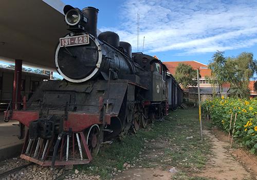 Ga Đà Lạt còn dấu tích tuyến đường sắt răng cưa được người Pháp xây dựng. Ảnh: Đoàn Loan.