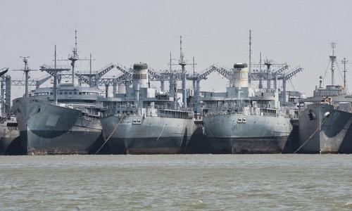 Các tàu hàng trong biên chế RRF. Ảnh: US Navy.