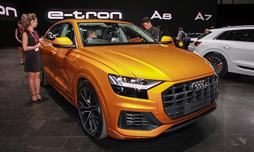 Mẫu SUV Q8 giới thiệu tại Audi Brand Experience Singapore 2018 vào sáng ngày 10/10 tại đảo quốc sư tử. Ảnh: Lương Dũng.