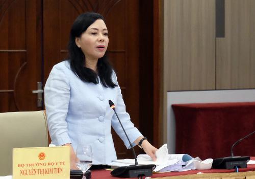 Bộ trưởng Y tế Nguyễn Thị Kim Tiến kết luận phiên thảo luận. Ảnh: V. Đ.