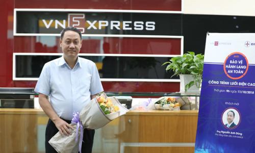Ông Nguyễn Anh Dũng - Phó tổng giám đốc EVN Hà Nội có mặt tại buổi tư vấn trực tuyến.