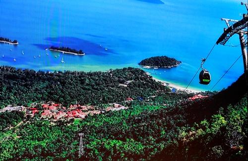 Phối cảnh cáp treo xuyên vườn quốc gia Bạch Mã. Ảnh: Võ Thạnh