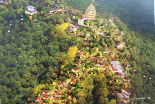 Phối cảnh khu B trên đỉnh Bạch Mã với 6 làng. Ảnh: Võ Thạnh