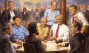 Trump treo tranh ngồi cùng các tổng thống Cộng hòa trong Nhà Trắng