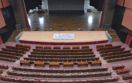 Khán phòng T1 sức chứa 1.000 chỗ ngồi của Nhà hát Vĩnh Phúc. Ảnh: Tất Định