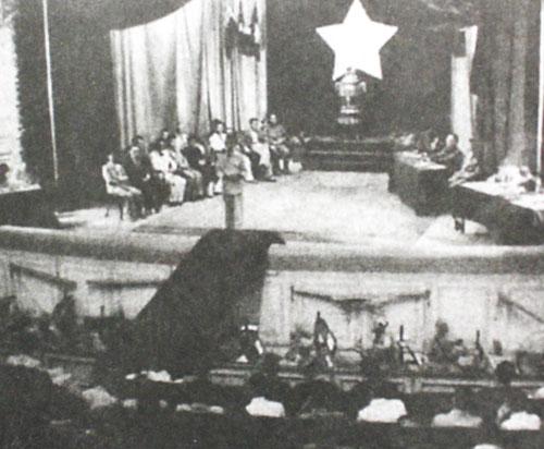 Quốc hội khóa I khai mạcngày 2/3/1946 tại Nhà hát lớn Hà Nội. Ảnh tư liệu.