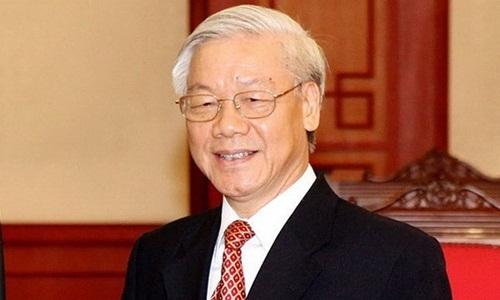Tổng bí thư Nguyễn Phú Trọng được giới thiệu để Quốc hội bầu Chủ tịch nước